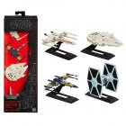 Black Series Titanium Ships. Dameron X-Wing, Falcon, Tie Fighter