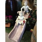 90cm Boy & Girl on Slide Statue