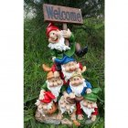 73cm Seven Dwarf with Welcome Sign
